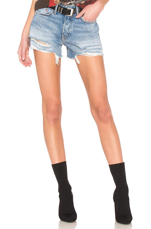 GRLFRND Helena Cut Off Shorts in Haggard