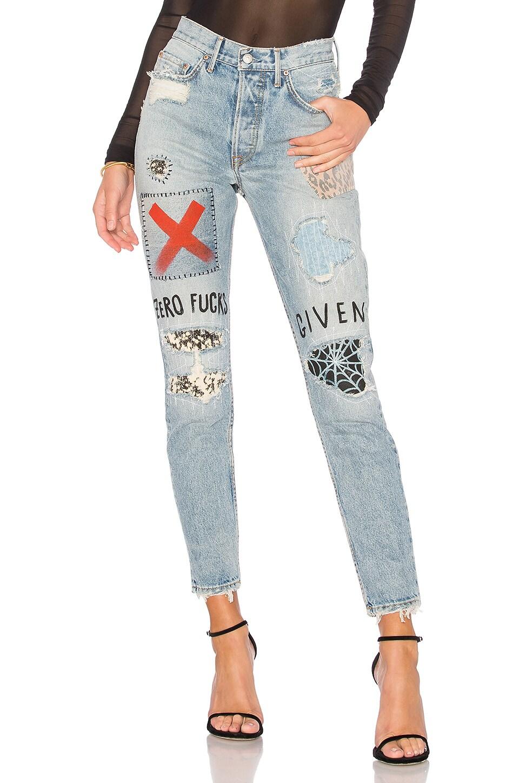 GRLFRND Karolina High-Rise Skinny Jean in Judas