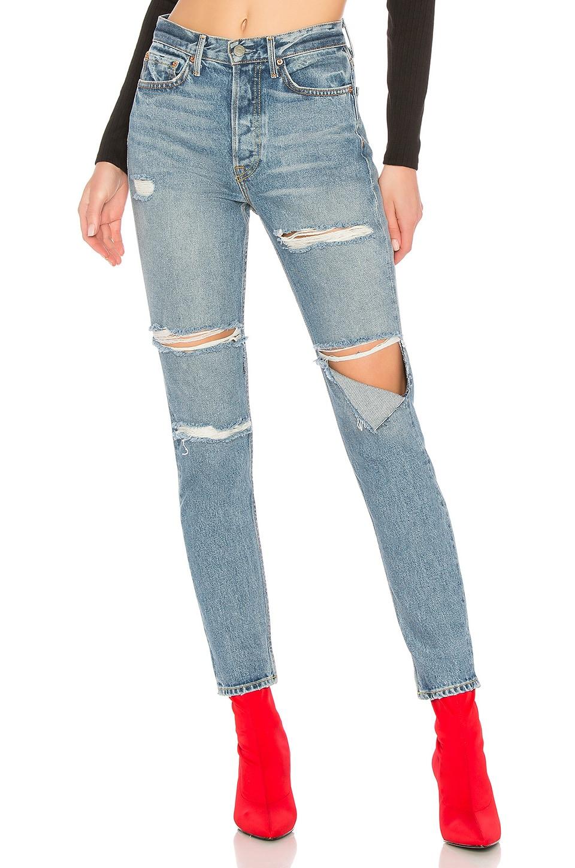 GRLFRND Karolina High-Rise Skinny Jean in Gold Digger