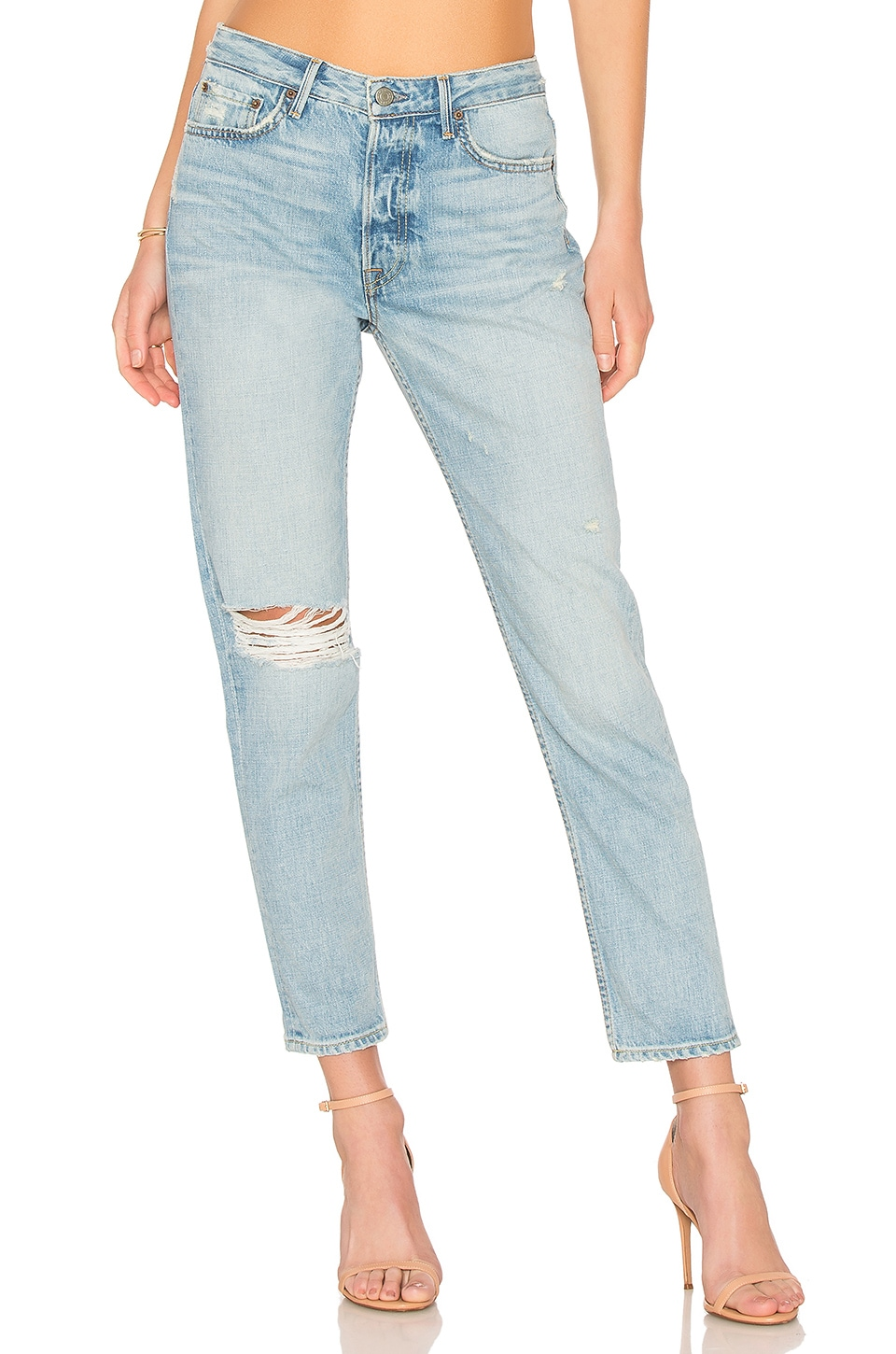GRLFRND Kiara Slouchy Tomboy Jean in Tripped Up