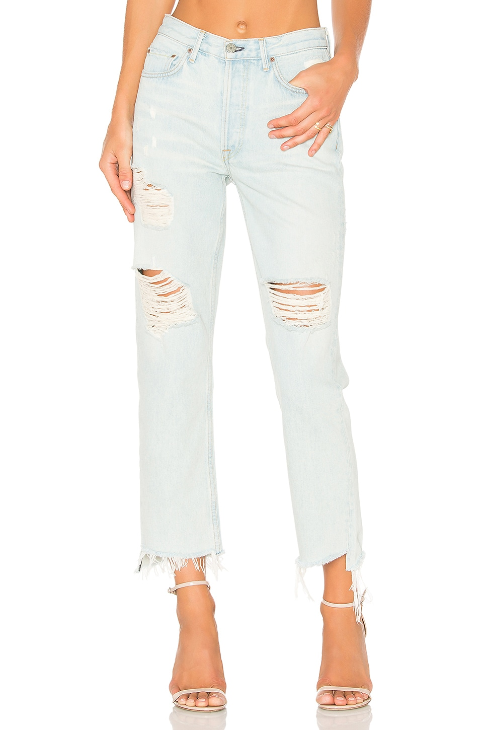 GRLFRND x REVOLVE Helena High-Rise Straight Leg Jean in Let It Be