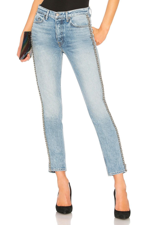 GRLFRND Karolina High-Rise Skinny Jean в цвете Heavy Metal