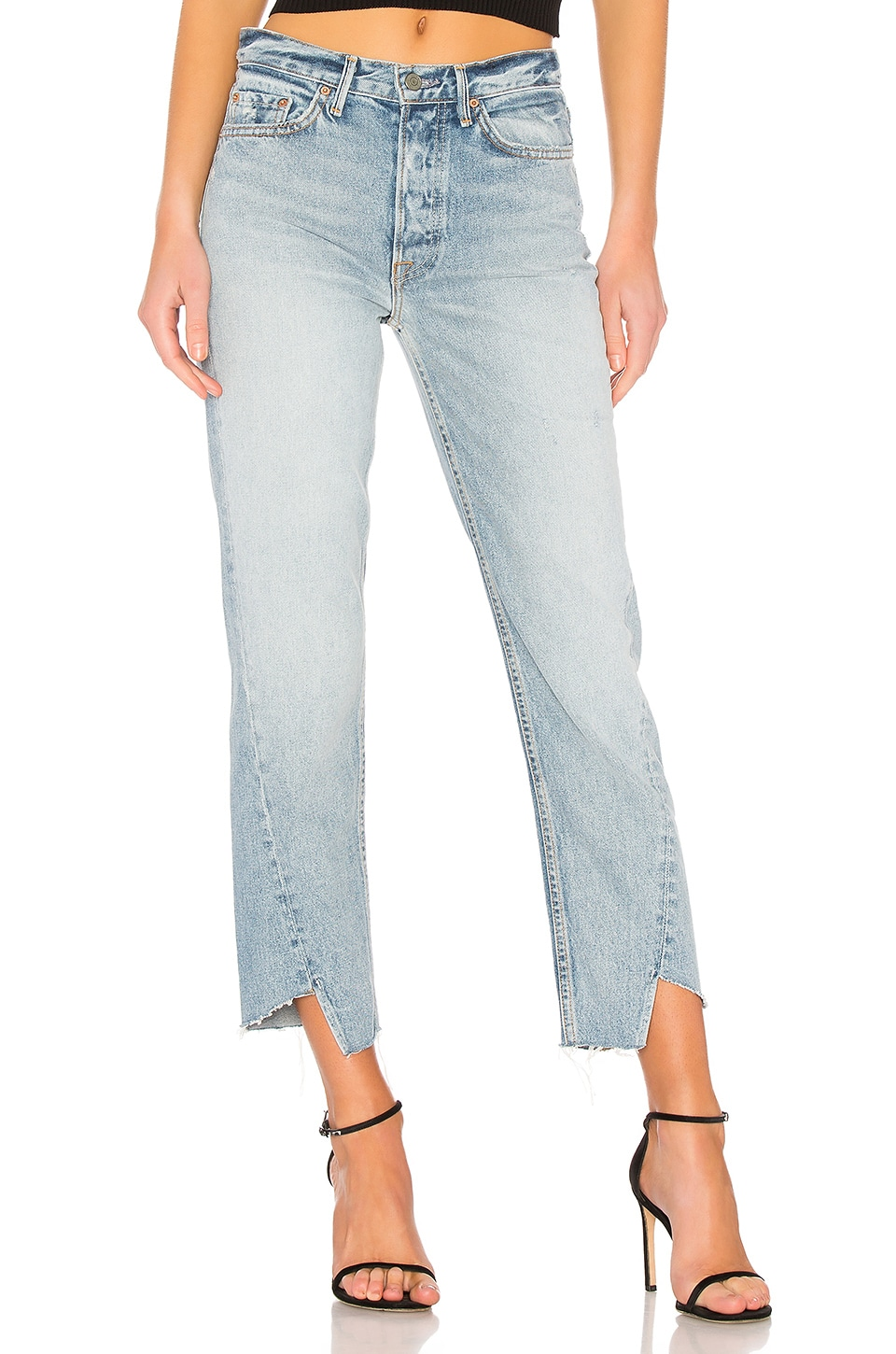 GRLFRND Carmen High-Rise Straight Leg Jean in Time Warp