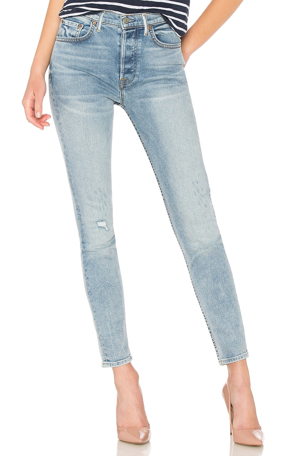 GRLFRND Karolina High-Rise Crop Jean in Go Low
