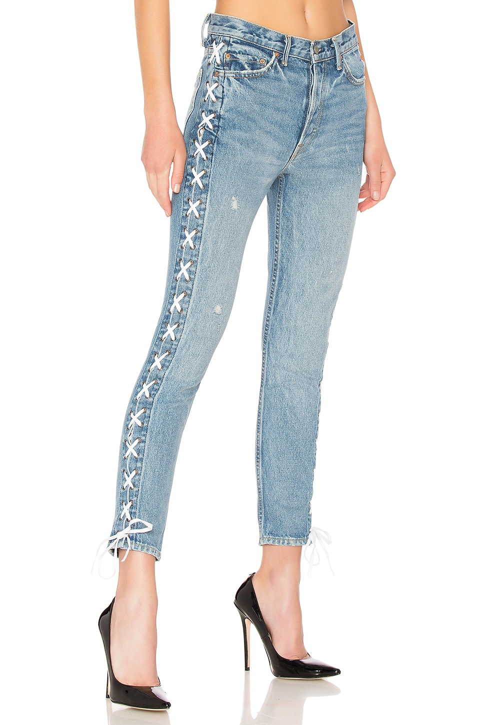 GRLFRND Karolina High-Rise Skinny Jean in Kingdom
