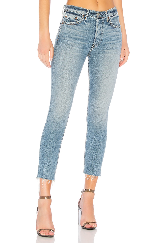 GRLFRND Karolina High-Rise Crop Jean in Lost Forever