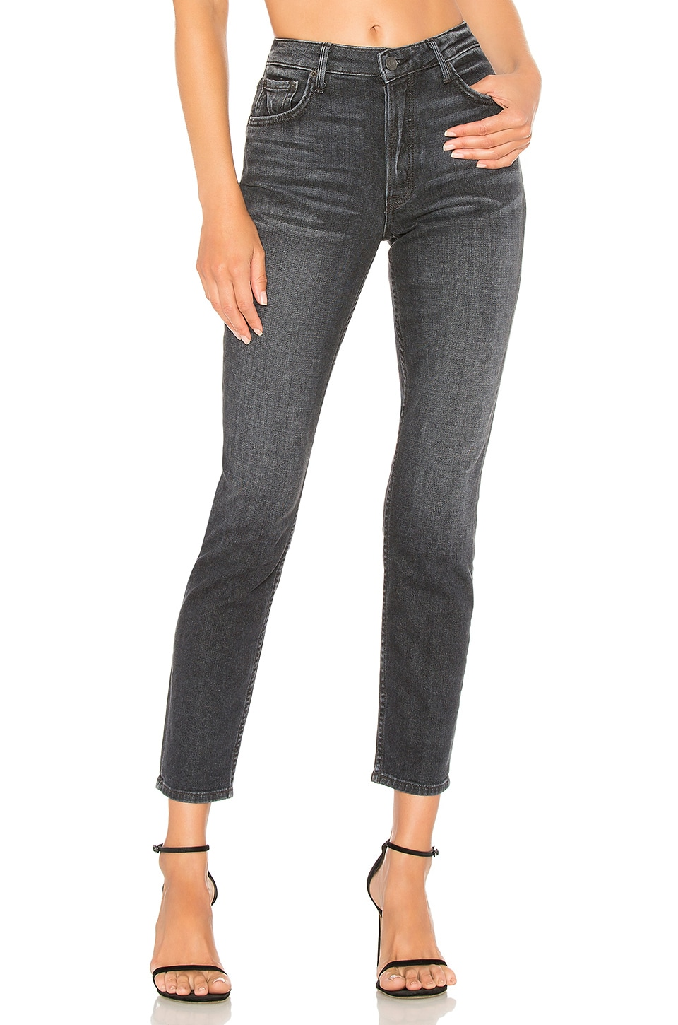 Kiara Relaxed Jeans - Black Size 23 in Dark Gray