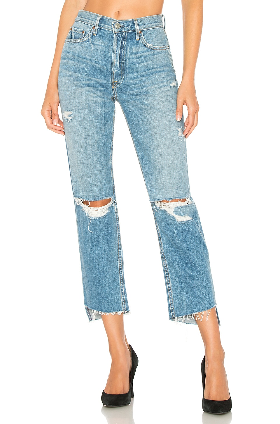 GRLFRND Helena High-Rise Straight Crop Jean in Last Song
