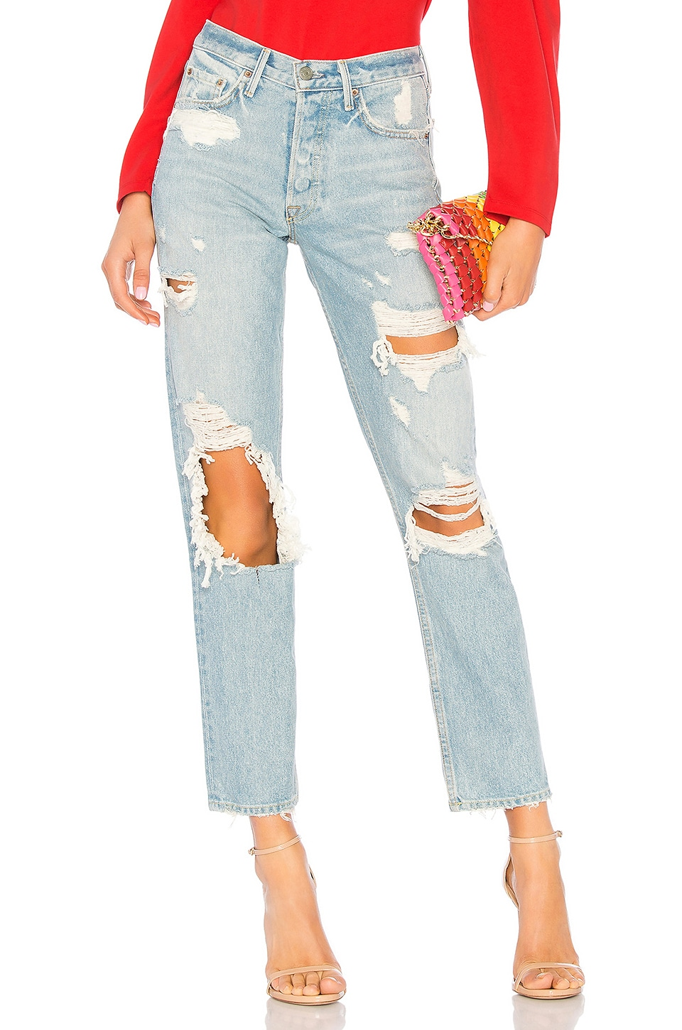 GRLFRND Helena High-Rise Straight Jean in Call Me