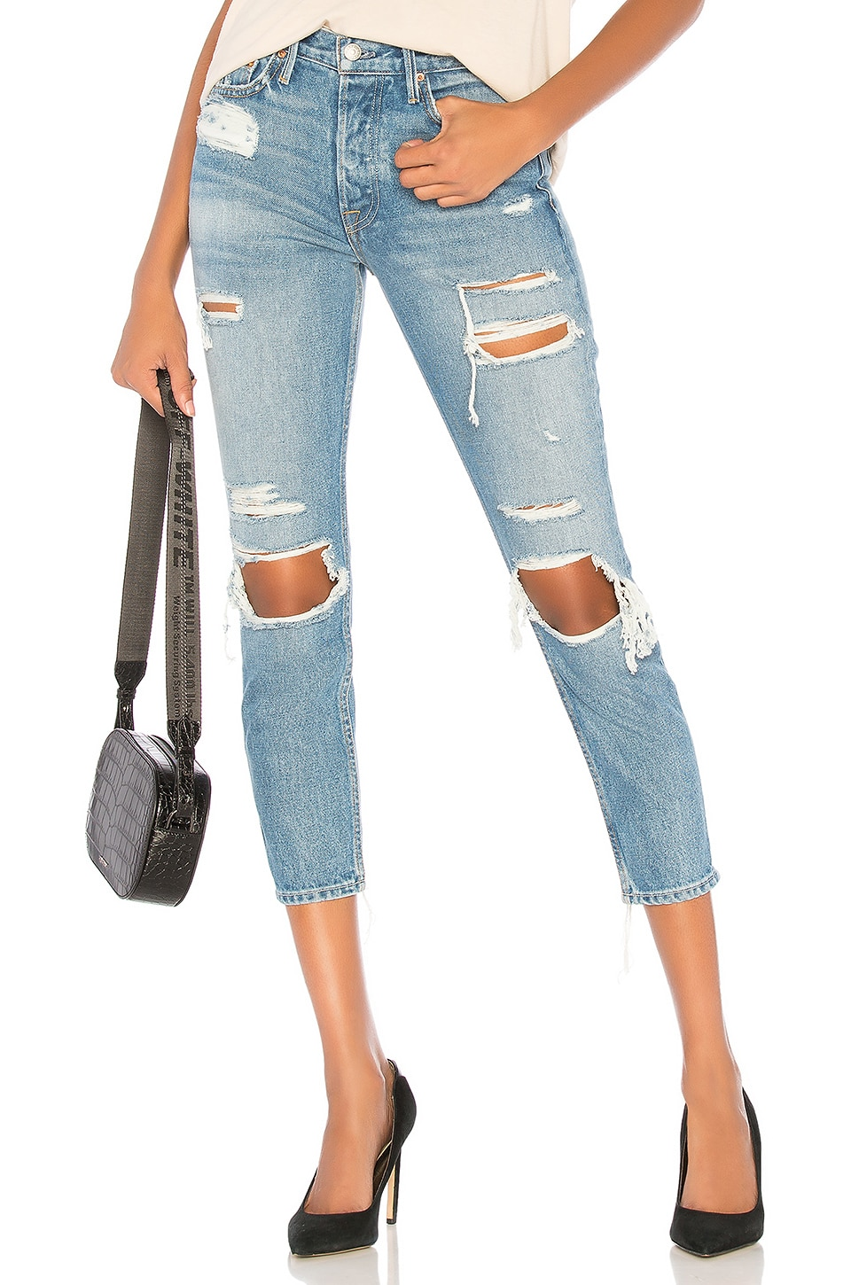 GRLFRND Karolina High-Rise Skinny Jean in Back Off