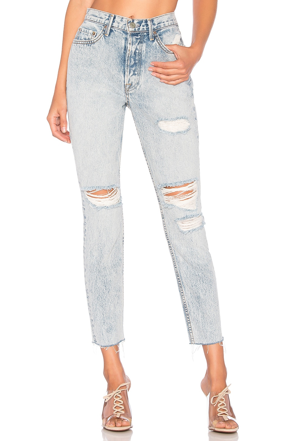 GRLFRND Karolina High-Rise Skinny Jean in Reactive