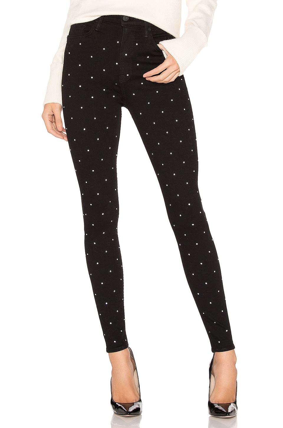 GRLFRND Kendall Stretch High-Rise Skinny Jean in Hard Candy