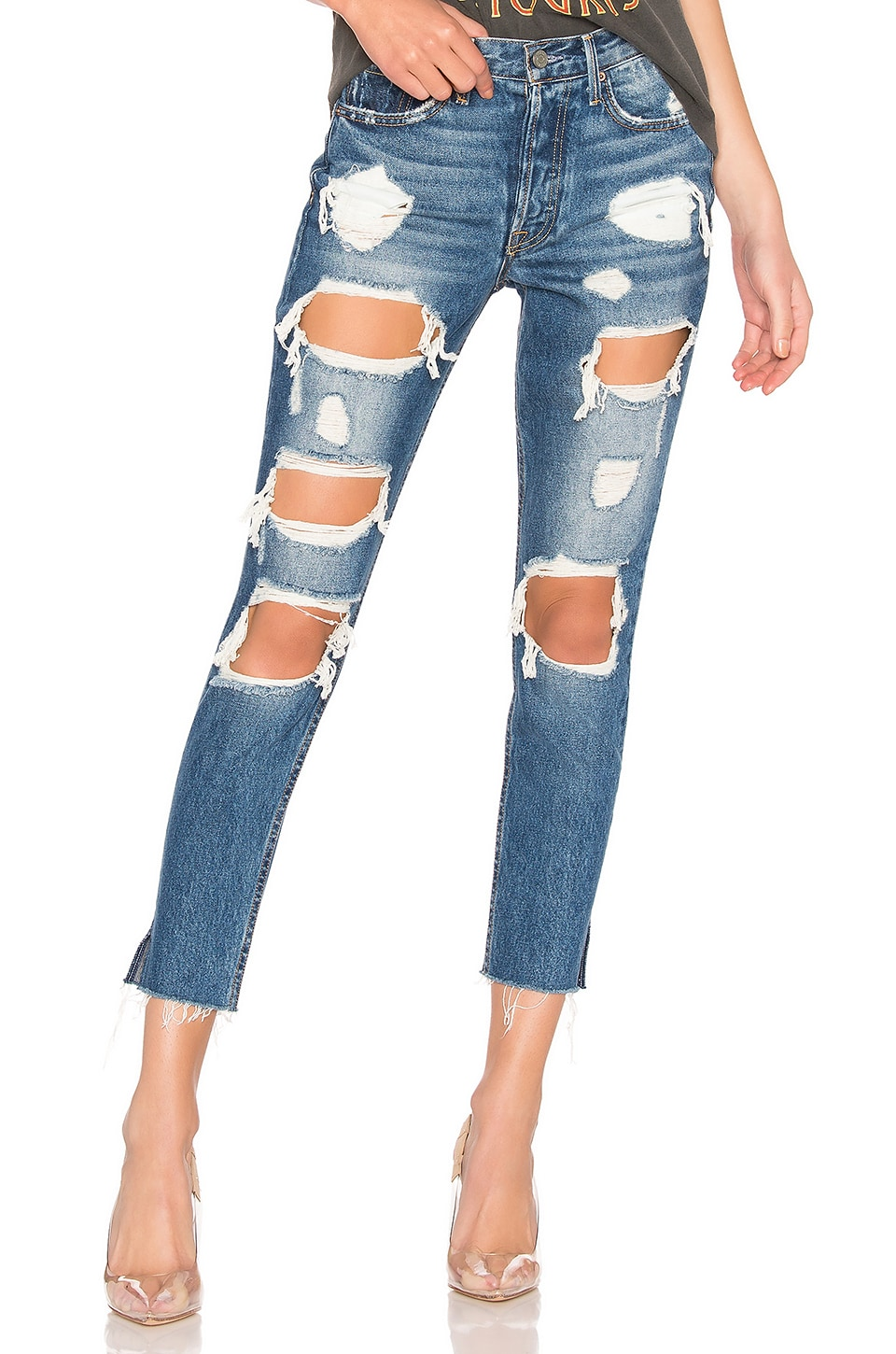 GRLFRND Karolina High-Rise Skinny Jean in Moon River