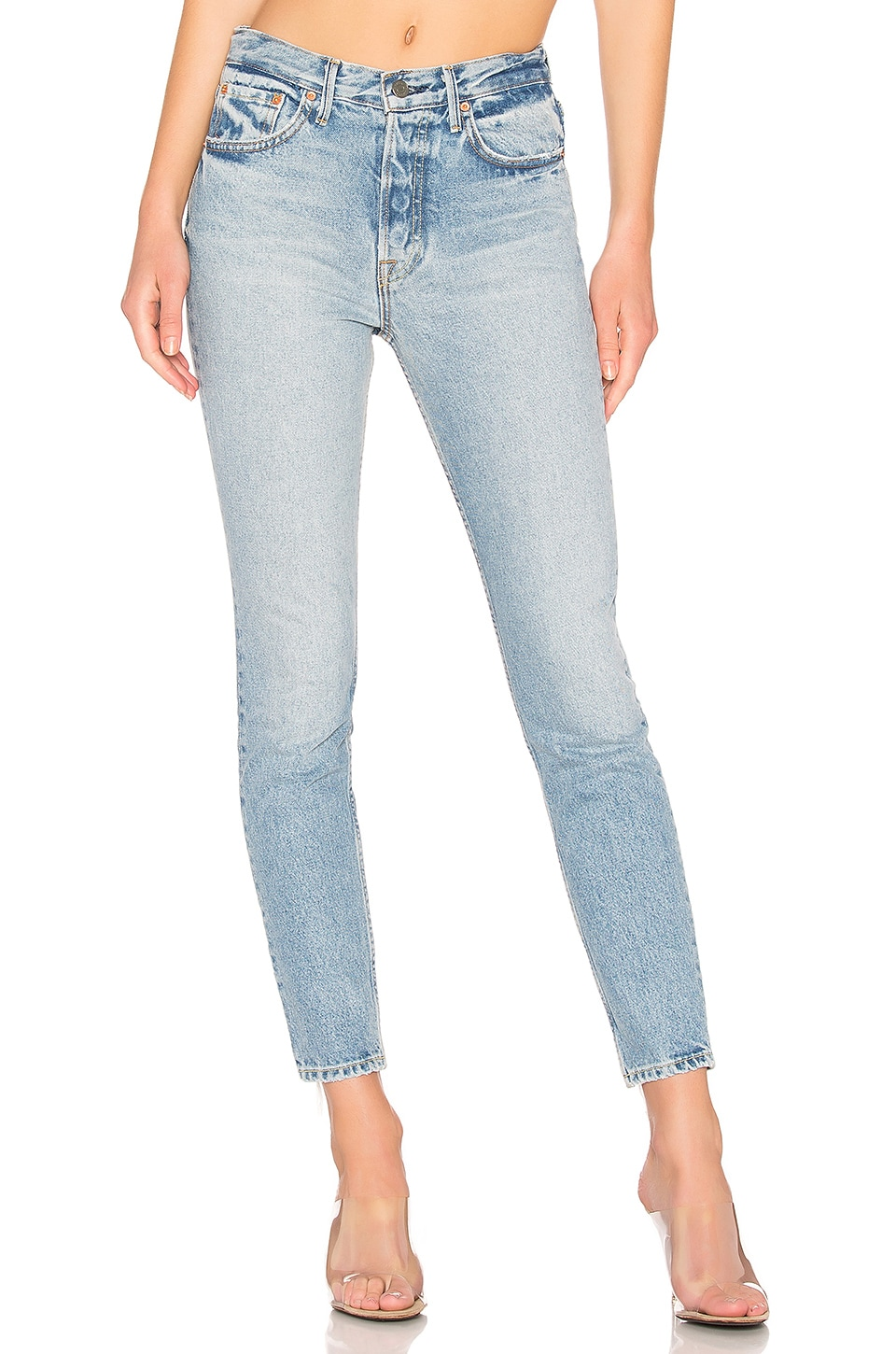 GRLFRND Karolina High-Rise Skinny Jean in New Romantic