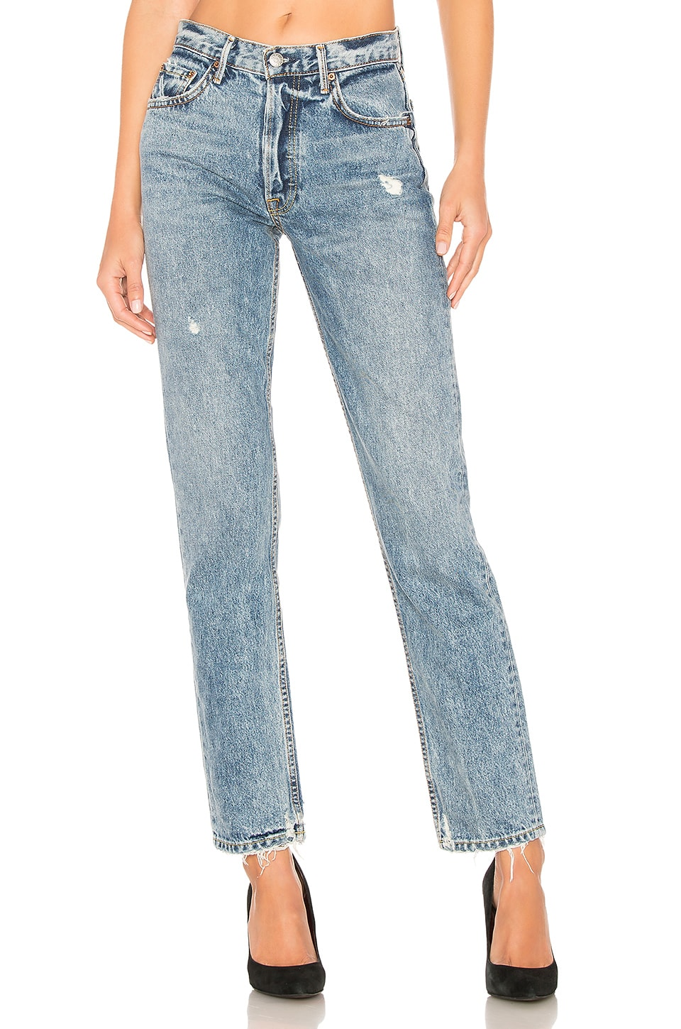 GRLFRND Helena High-Rise Straight Jean en No Limit