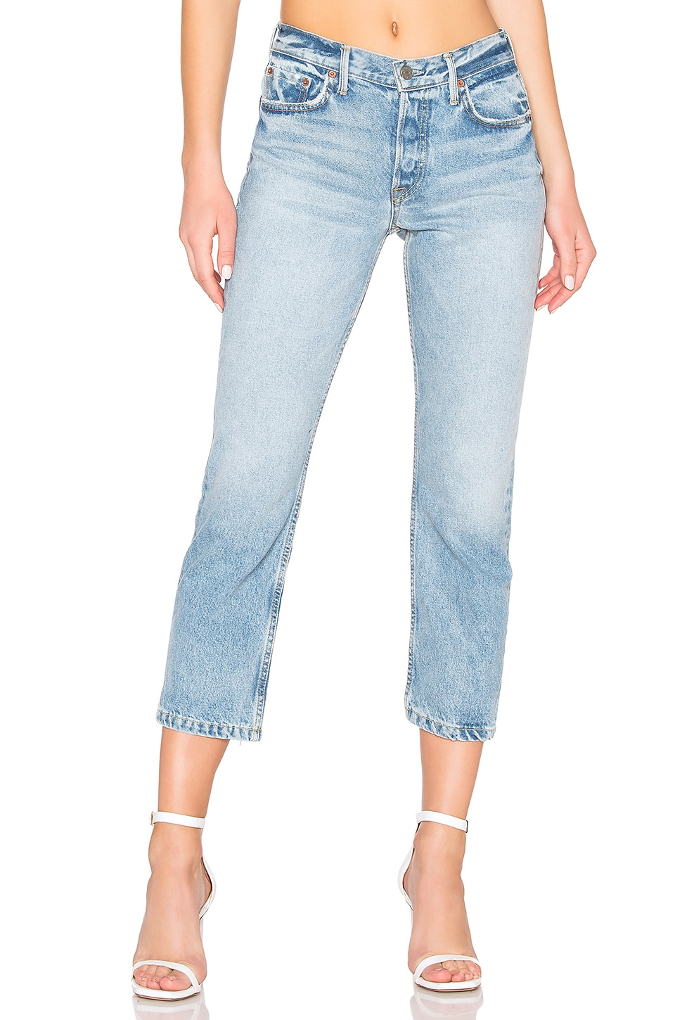 GRLFRND Tatum High-Rise Skinny Jean en New Romantic