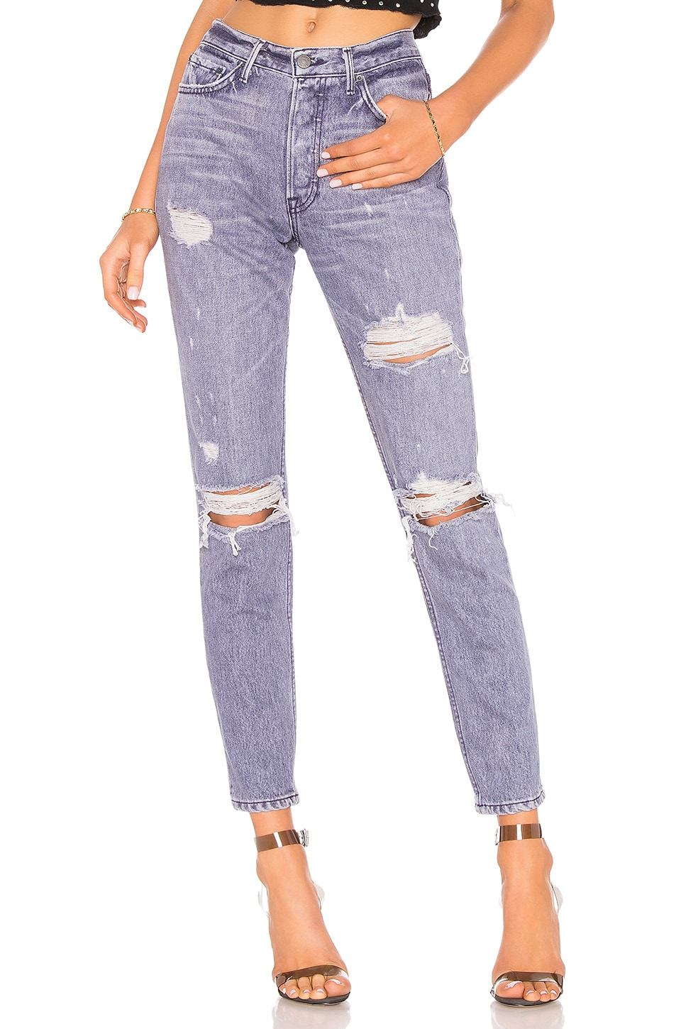 GRLFRND Karolina High-Rise Skinny Crop Jean in You Got The Look