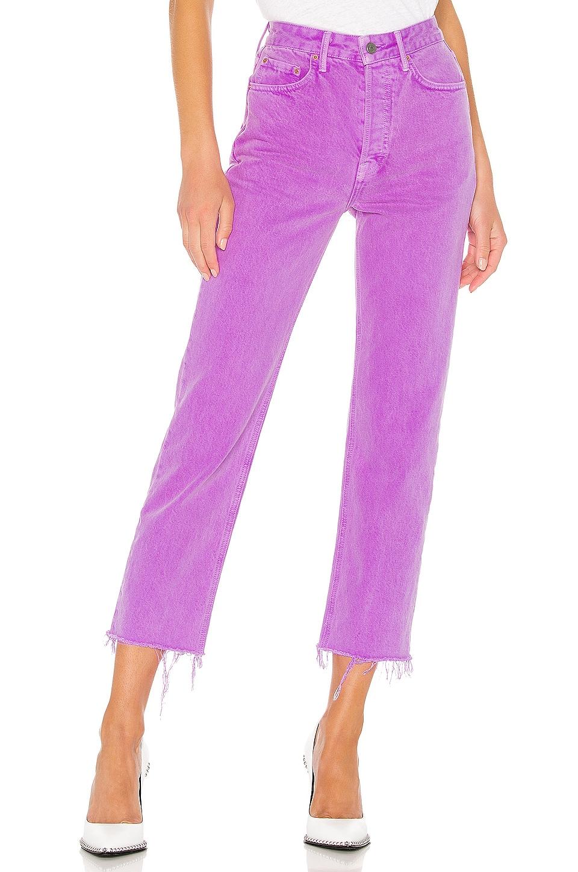 GRLFRND Mica Crop en Electric Purple