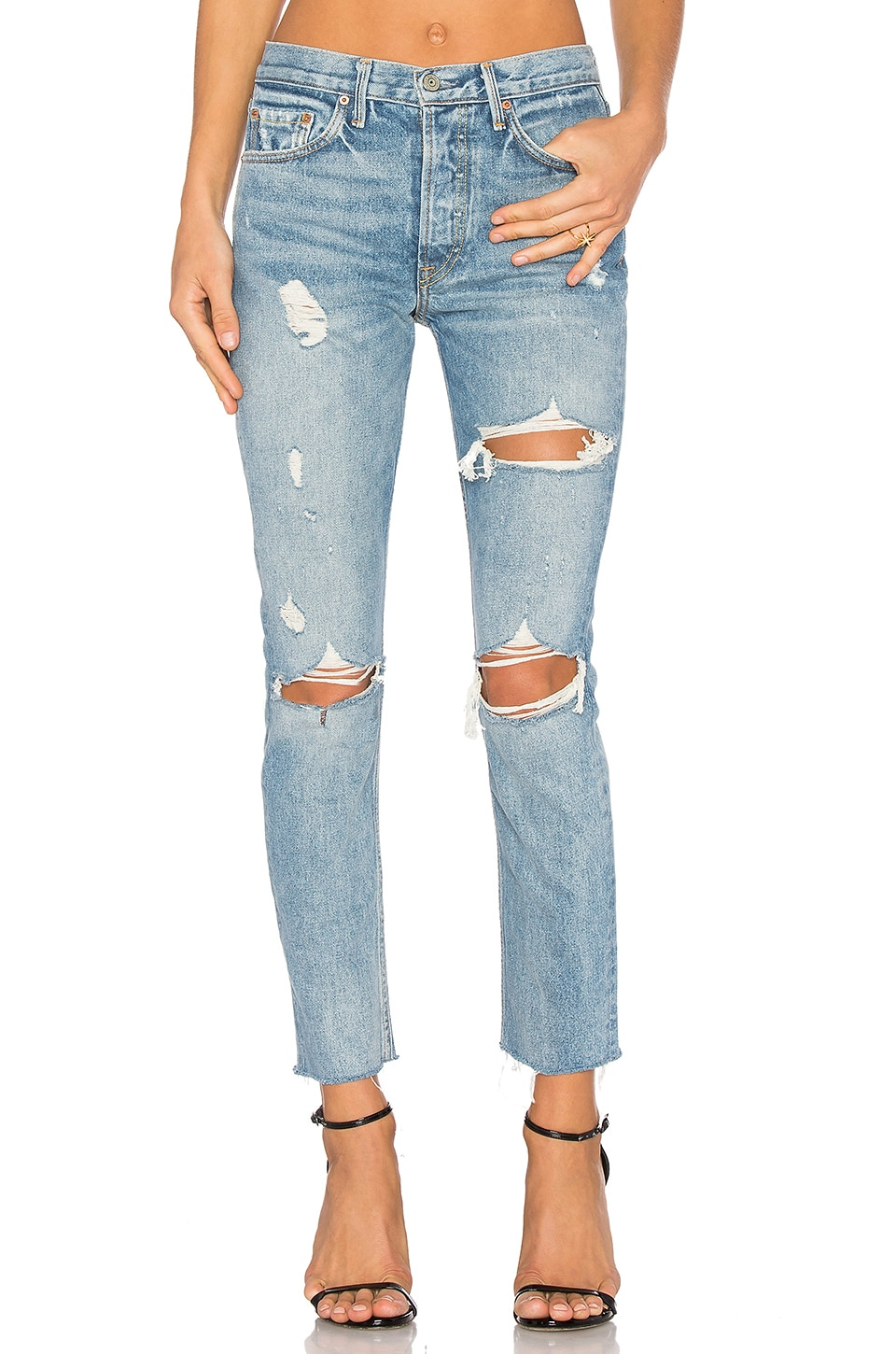 GRLFRND PETITE Karolina High-Rise Skinny Jean in A Little More Love