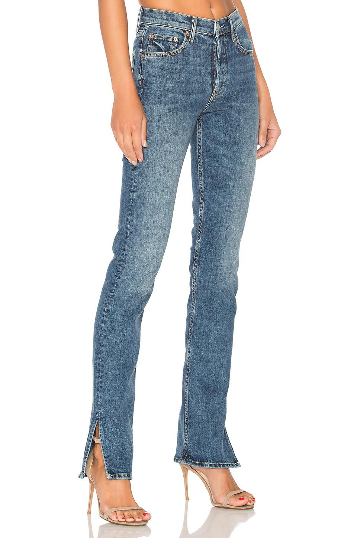 GRLFRND Natalia High-Rise Skinny Split Jean in Ma Belle Amie