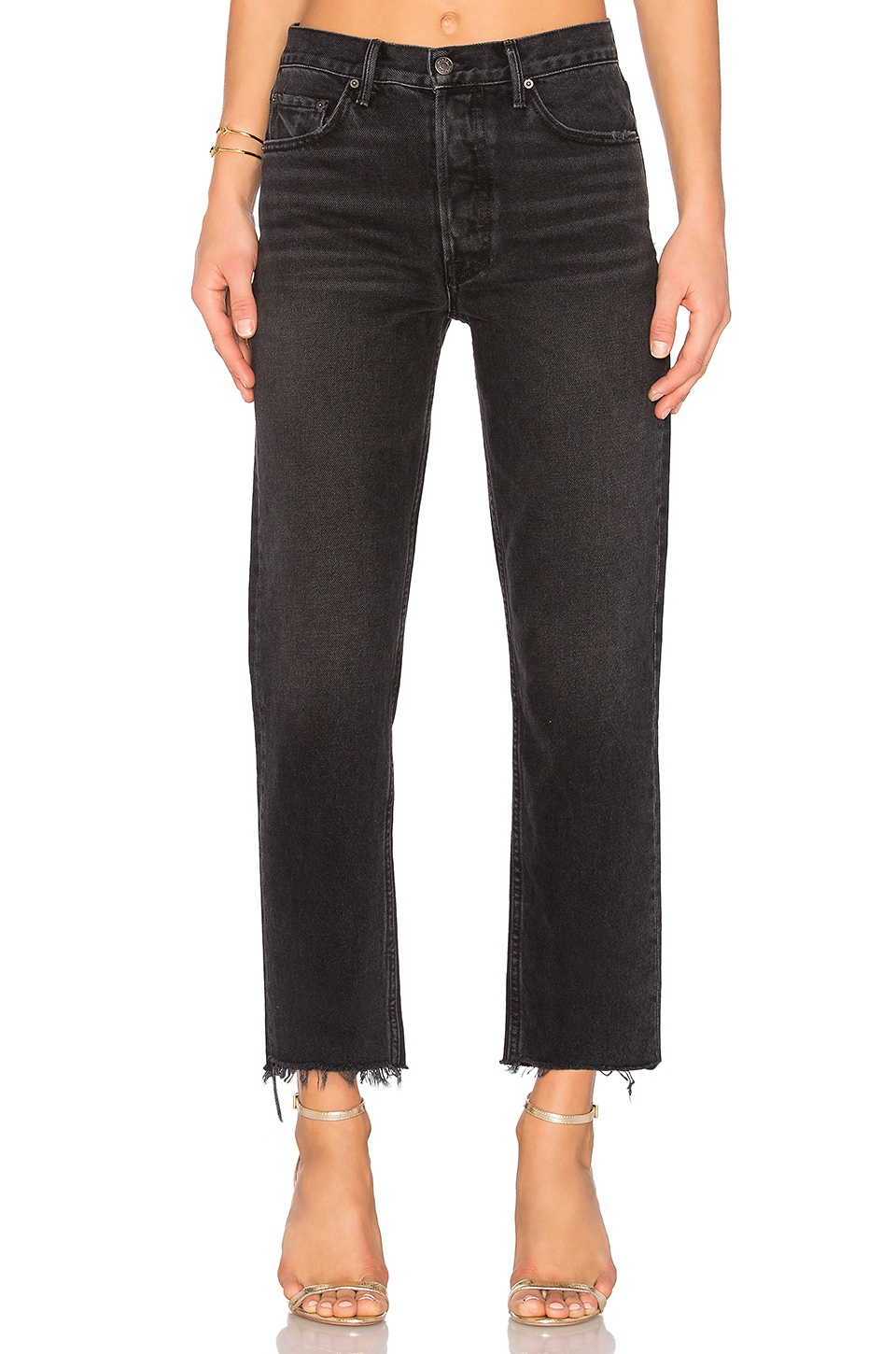 GRLFRND Helena High-Rise Straight Crop Jean in Proud Mary