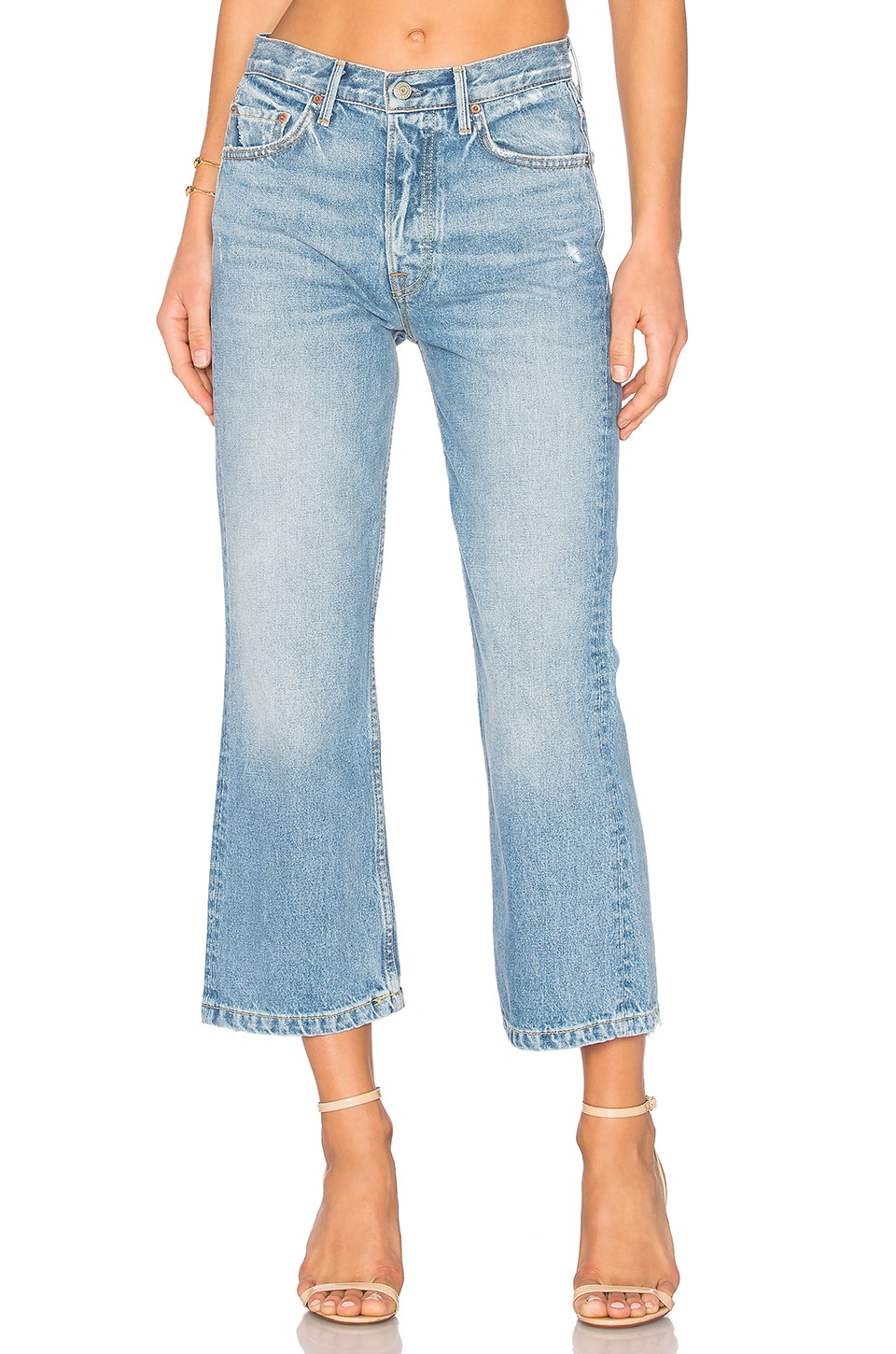 GRLFRND Linda High-Rise Pop Crop Jean in American Woman
