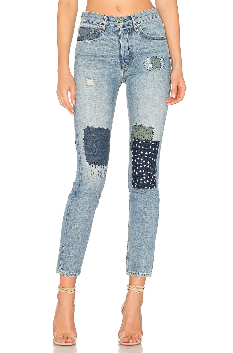 GRLFRND x REVOLVE Karolina High-Rise Skinny Jean in One Bad Apple