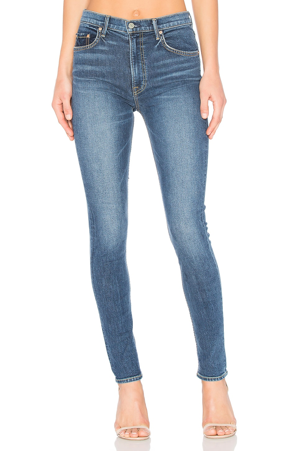 GRLFRND x REVOLVE PETITE Kendall Super Stretch High-Rise Skinny Jean in No More Tears