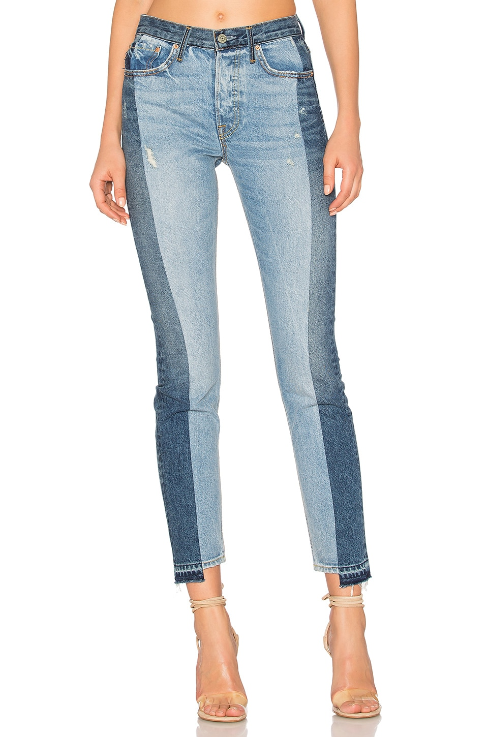 GRLFRND Karolina High-Rise Skinny Jean in Thunder Road