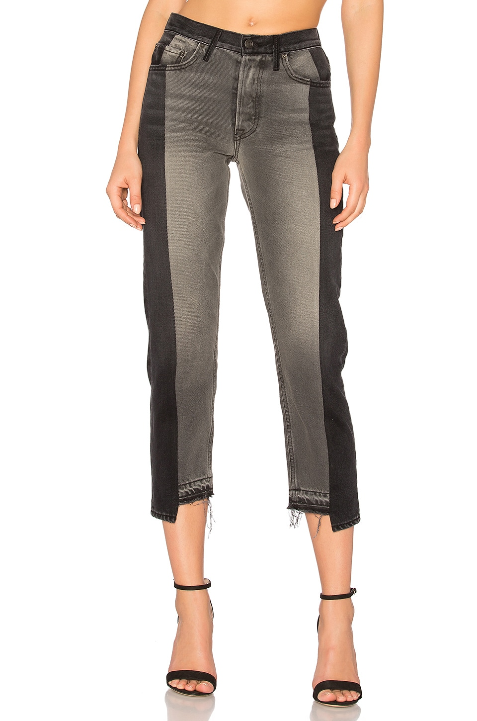 GRLFRND Helena High-Rise Straight Crop Jean in Superstition