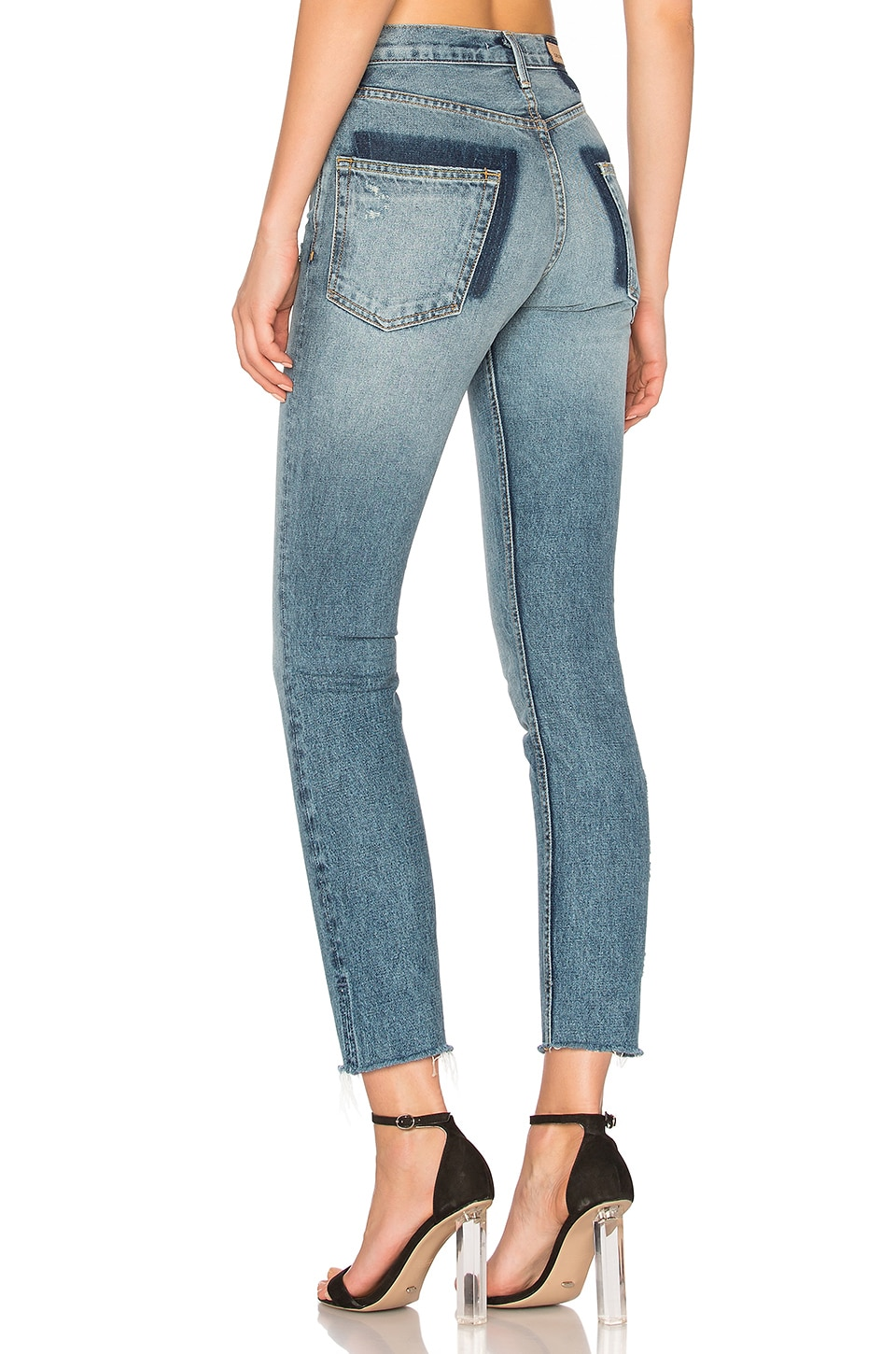 GRLFRND PETITE Karolina High-Rise Skinny Jean in Whole Lotta Love