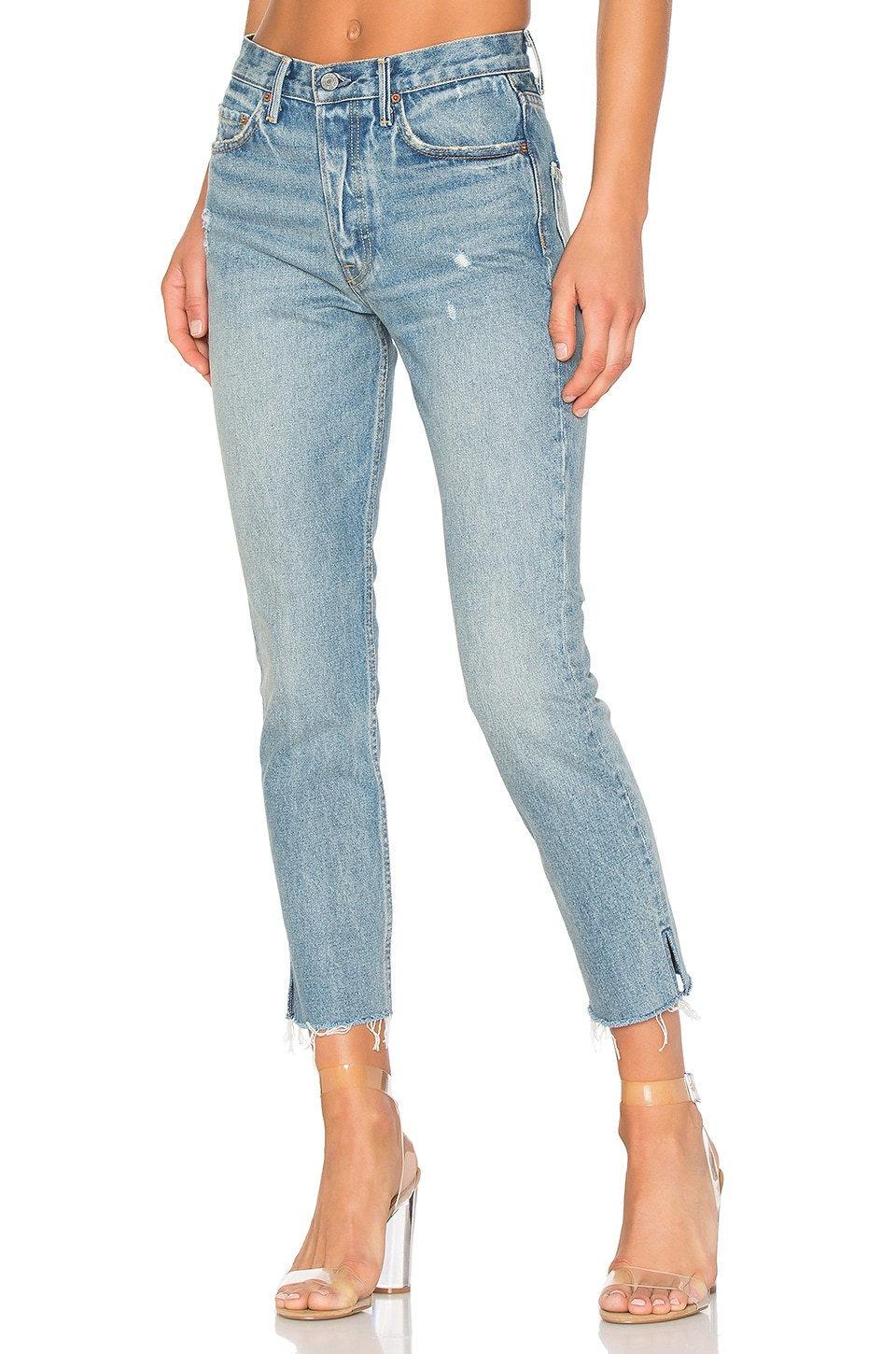 GRLFRND PETITE Karolina High-Rise Skinny Jean in Without Love