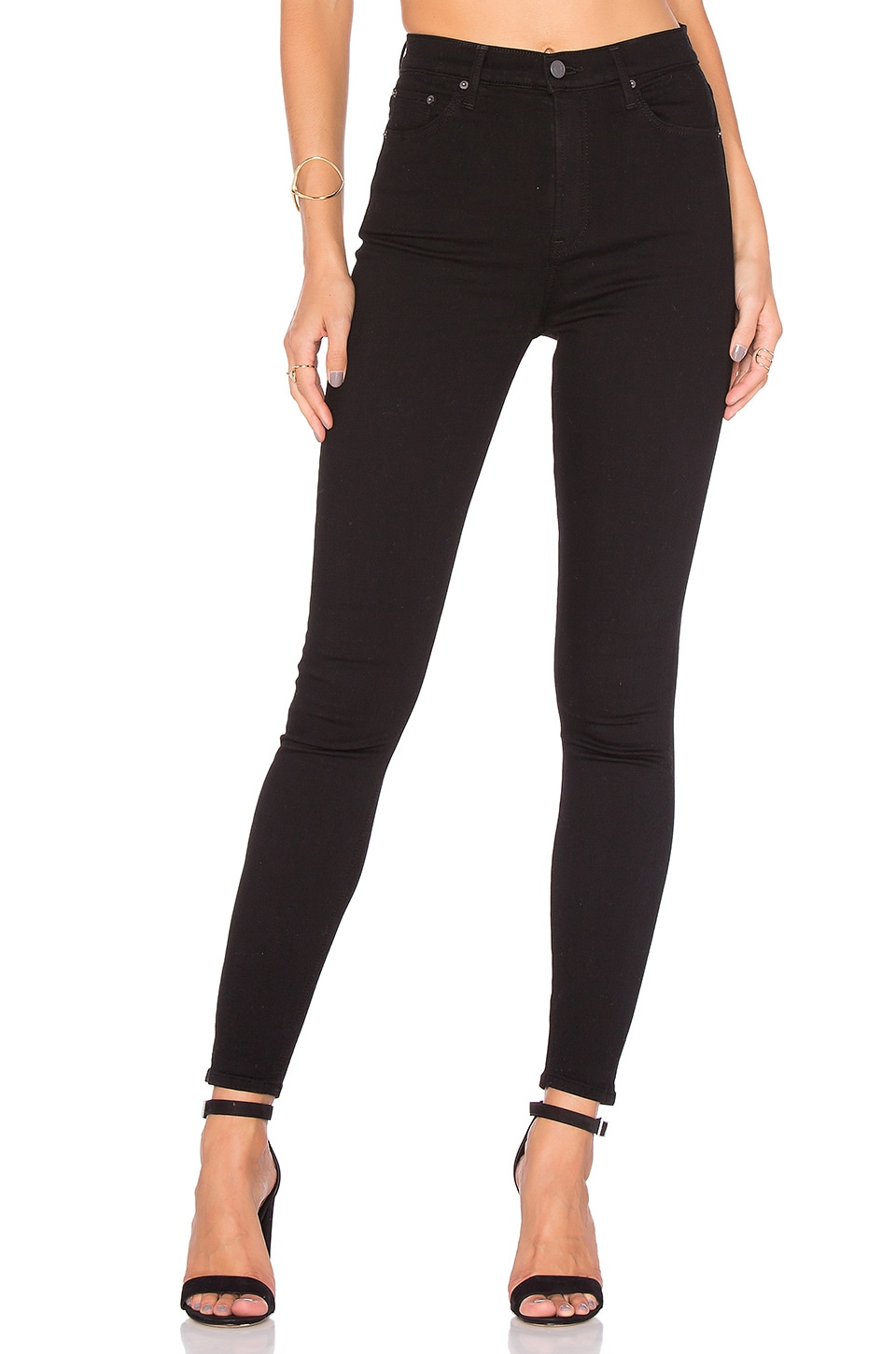 GRLFRND PETITE Kendall Super Stretch High-Rise Skinny Jean in Black Magic Woman