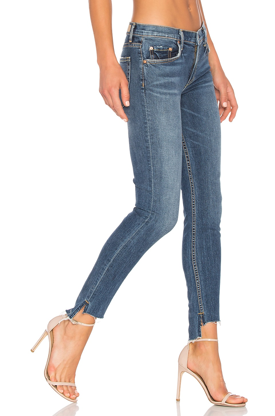 GRLFRND x REVOLVE Candice Mid-Rise Skinny Jean in No More Tears