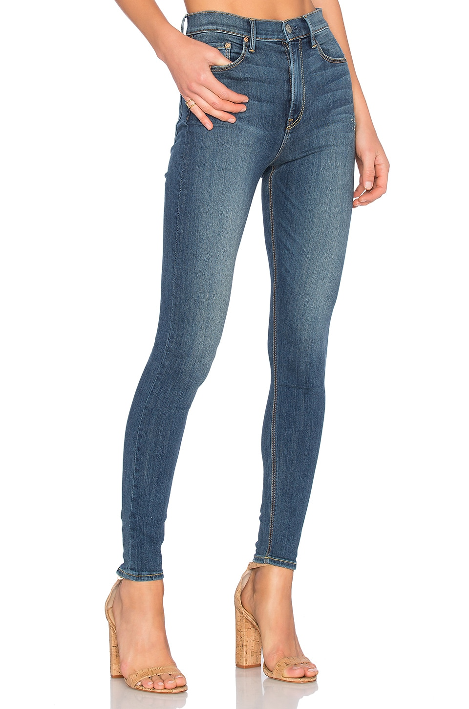 GRLFRND PETITE Kendall Super Stretch High-Rise Skinny Jean in You And Me Against The World