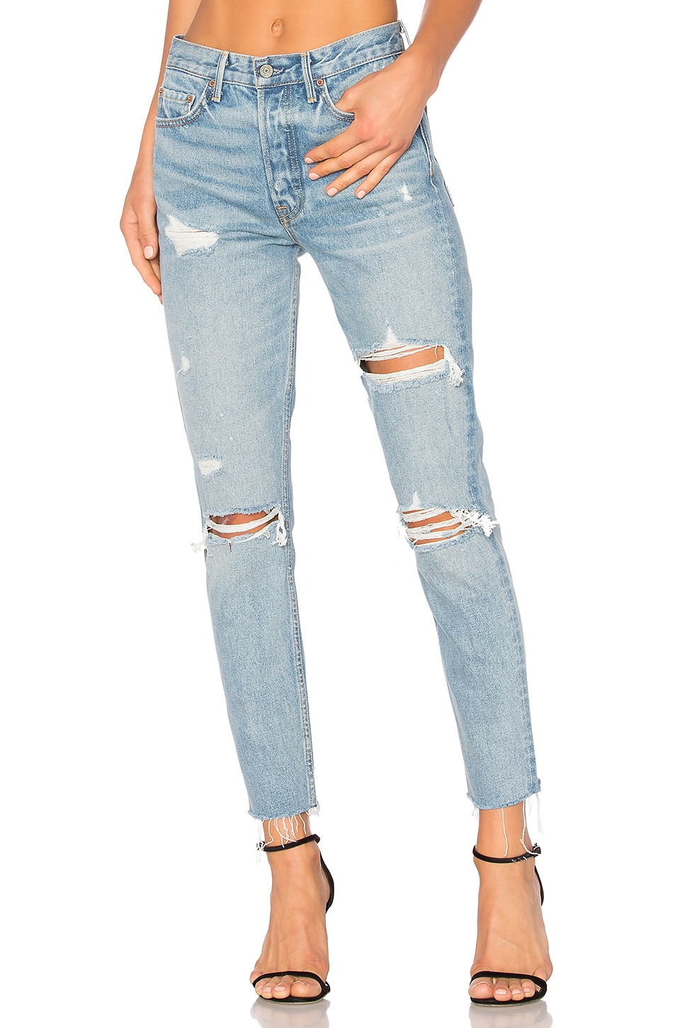 GRLFRND Karolina High-Rise Skinny Jean in A Little More Love
