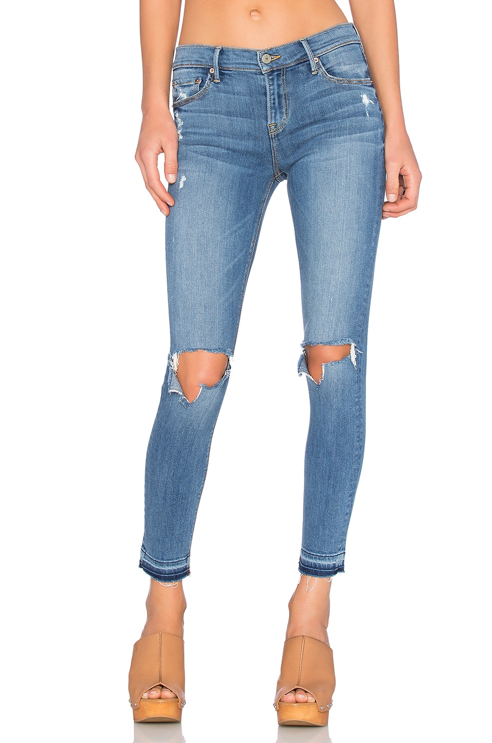 GRLFRND PETITE Candice Mid-Rise Skinny Jean in A Love Song