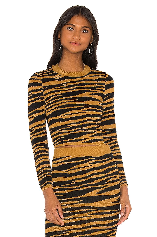 GRLFRND Toni Long Sleeve Sweater in Black & Gold