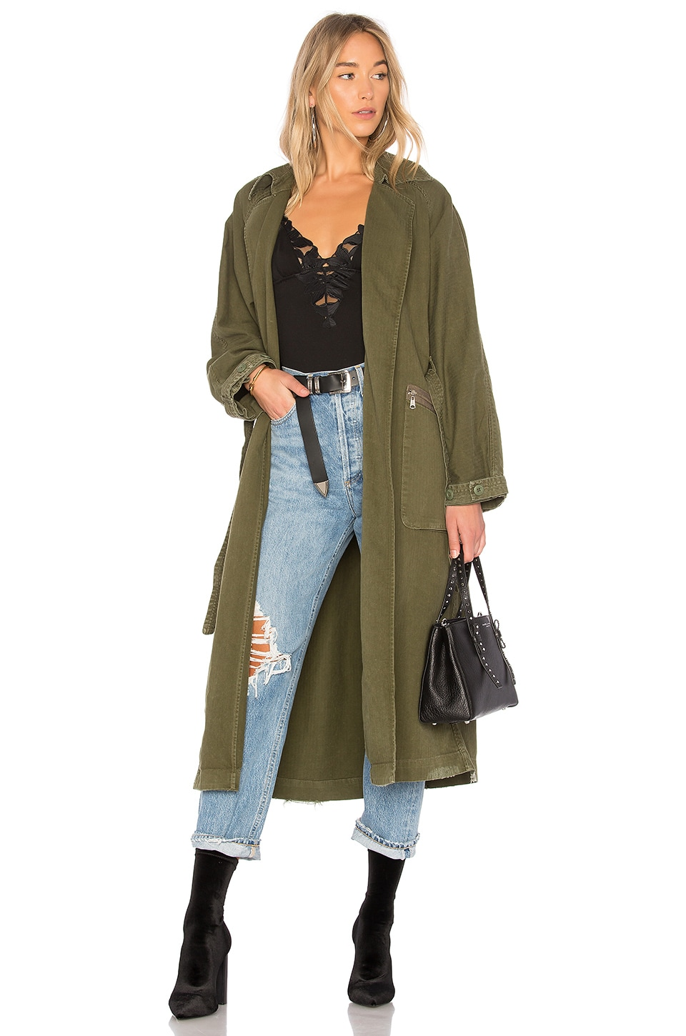 GRLFRND Donna Trench Coat in Atlantic City