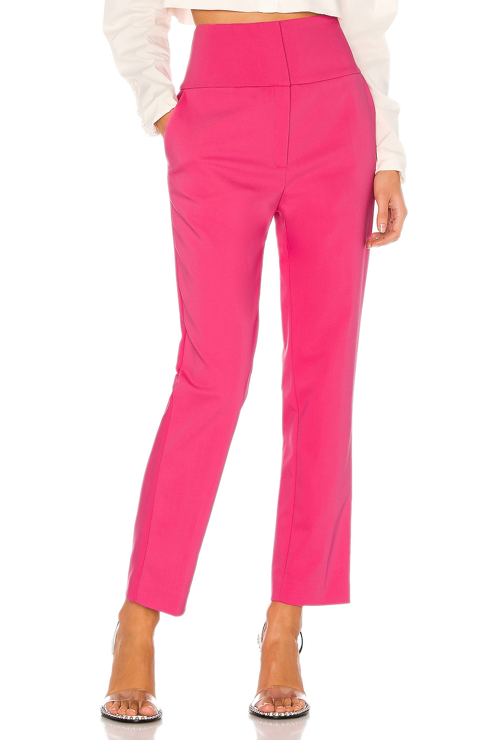 GRLFRND Cameron Trousers in Bright Pink