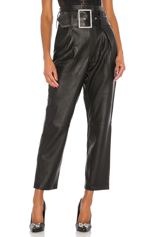 GRLFRND Beatrice High Waist Leather Pants in Black
