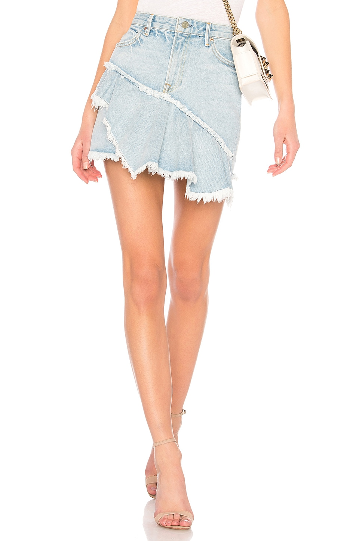 GRLFRND Giselle A-Line Ruffle Skirt in Lucca
