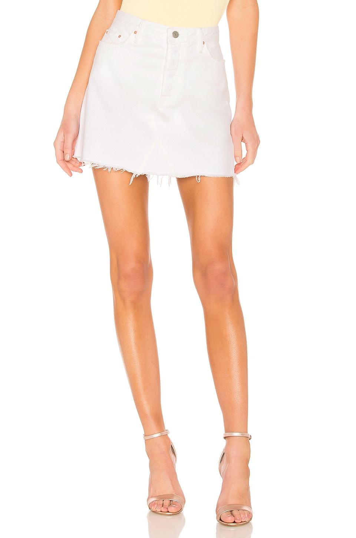 GRLFRND Eva A-Frame Gusset Skirt in Porto