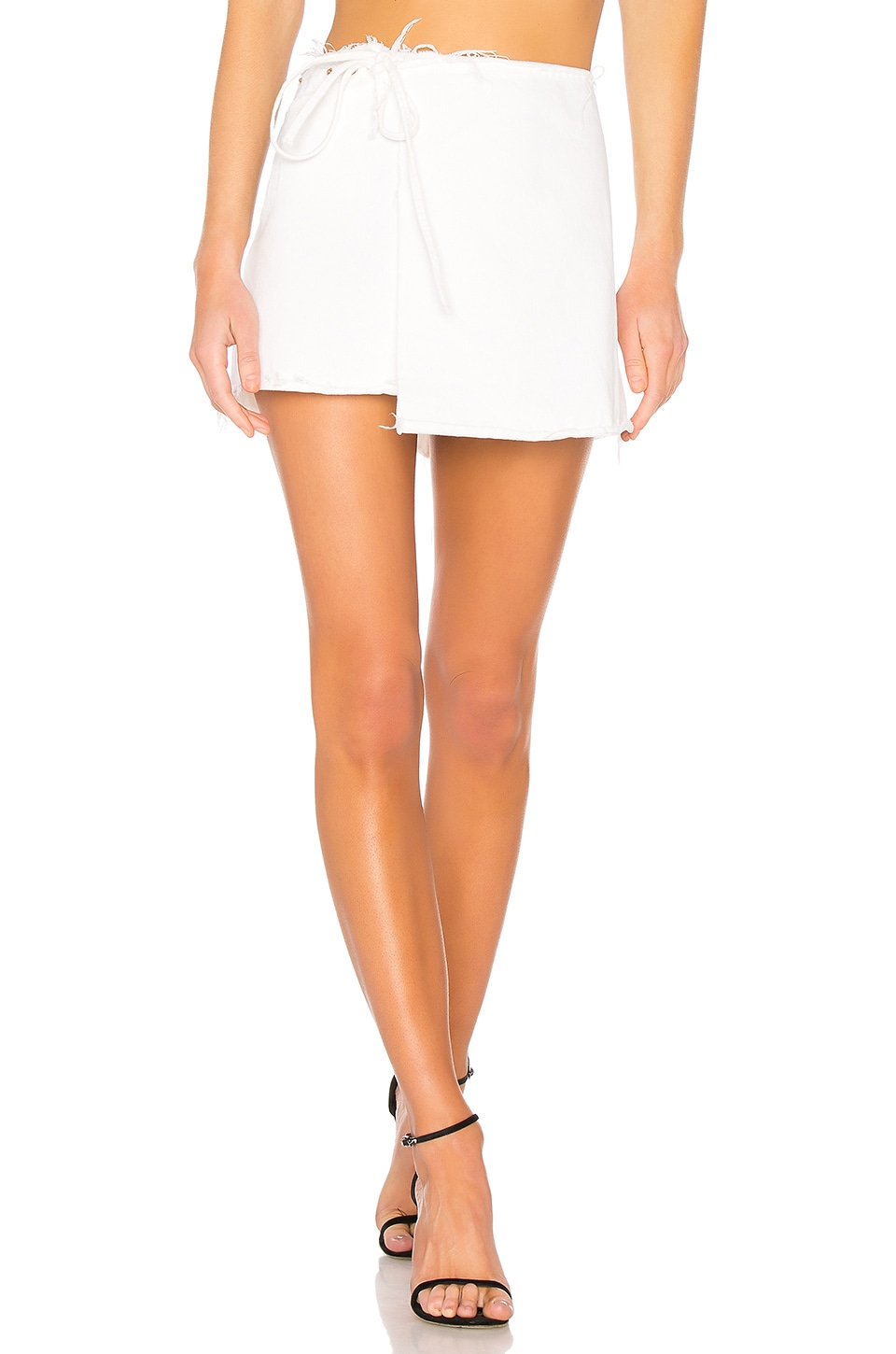 GRLFRND Ella Reconstructed Wrap Skirt in Think Twice
