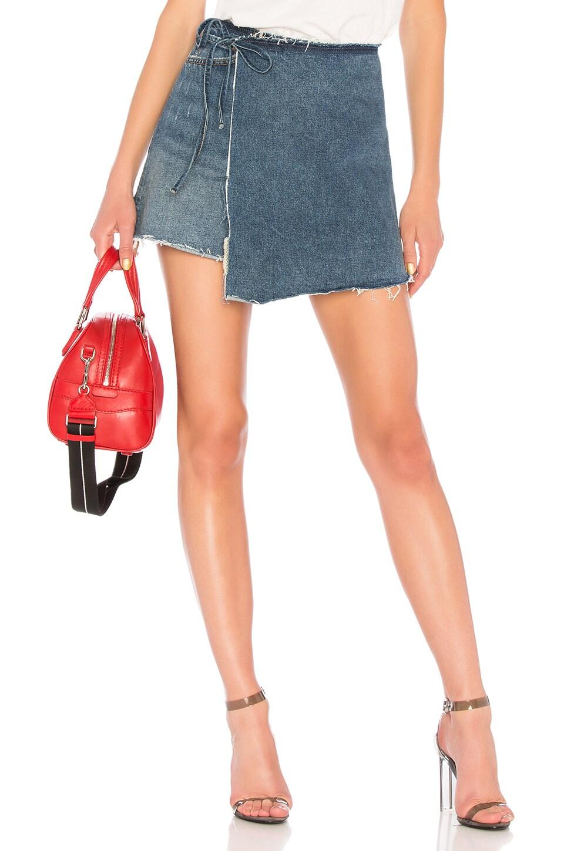 GRLFRND Ella High-Rise Wrap Skirt in Sugah Daddy