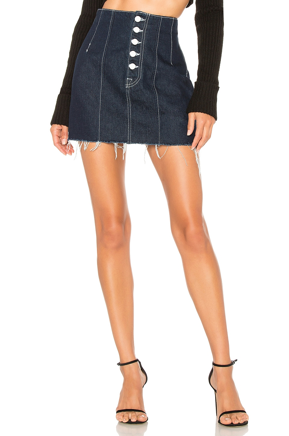 GRLFRND Twiggy Super High-Rise Mini Skirt in Touch And Go