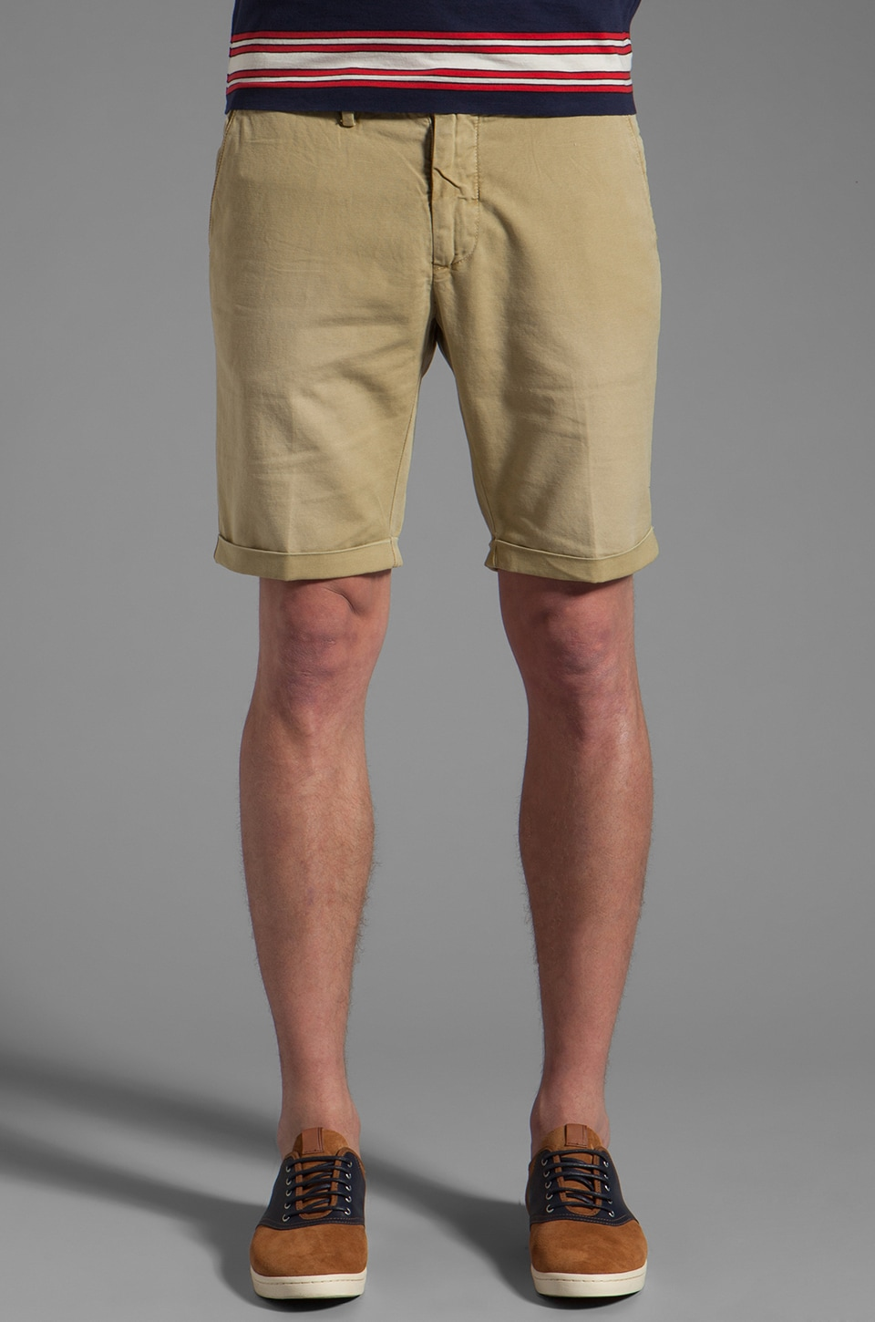 GANT Rugger Canvas Short in Fudge
