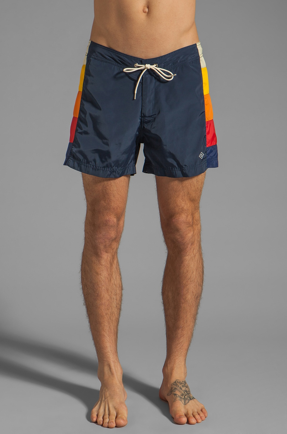 GANT Rugger Patch Panel Swimtrunks in Navy