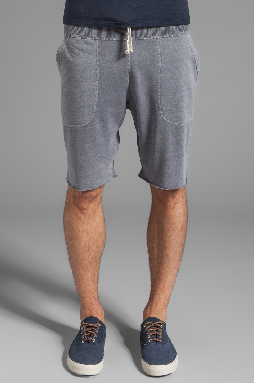 GANT Rugger Cut Off Lazy Pant in Dark Grey Melange