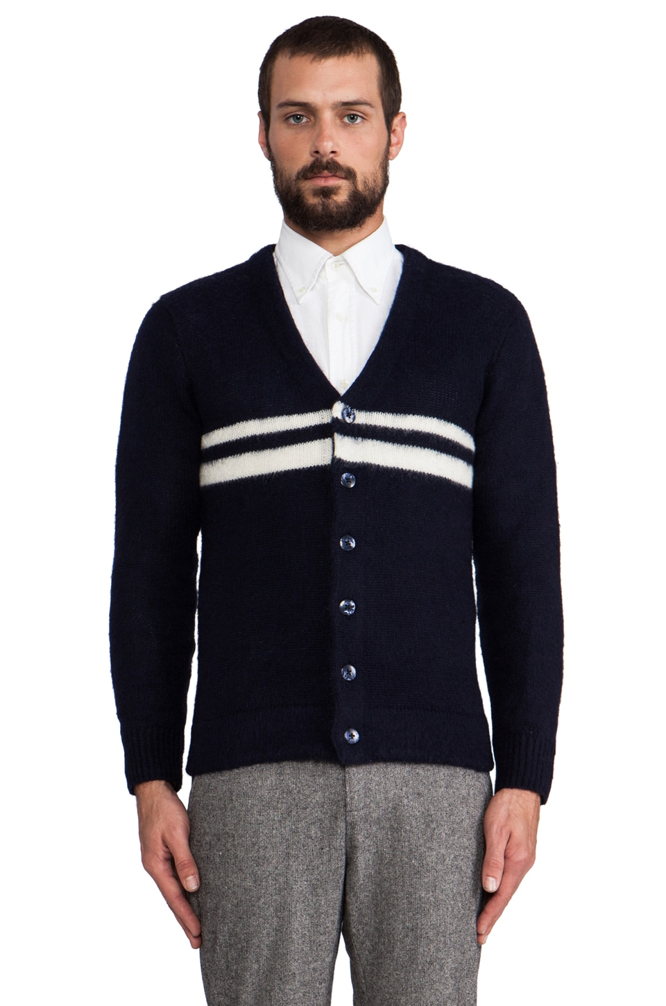 GANT Rugger The Rua Cardigan in Blue